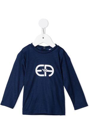Emporio Armani Monogram-print long-sleeved T-shirt