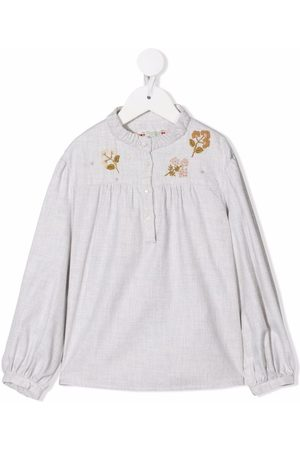 BONPOINT Floral-embroidered cotton blouse