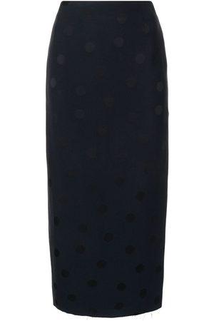 RAF SIMONS Polka dot-print pencil skirt