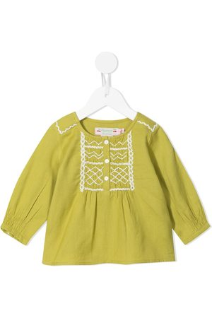 BONPOINT Embroidered button-up blouse