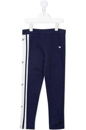 Emporio Armani Logo-print cotton track pants