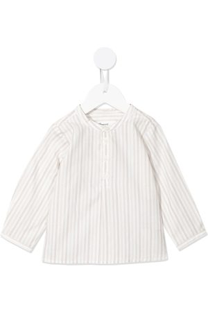 BONPOINT Baby Tops - Collarless button-up shirt