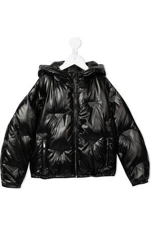 Emporio Armani Logo-plaque hooded puffer jacket