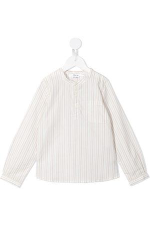 BONPOINT Striped collarless shirt