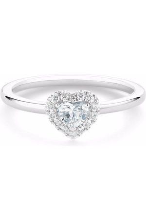 De Beers Platinum Aura heart-shaped diamond ring