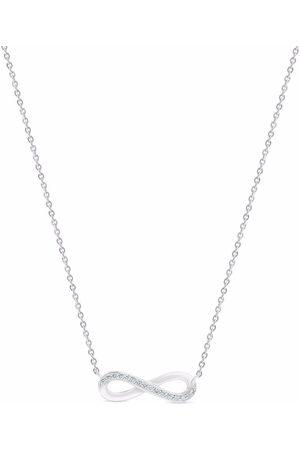 De Beers 18kt white gold Infinity diamond necklace
