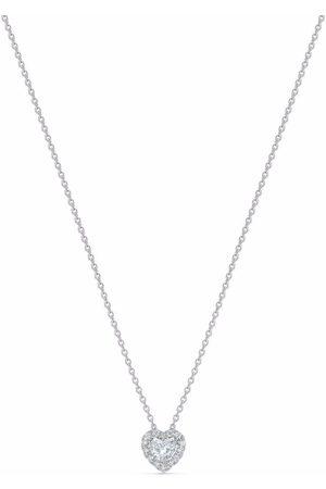 De Beers 18kt white gold Aura heart-shaped diamond pendant necklace