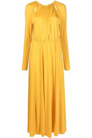 Emilio Pucci Gathered cut-out maxi dress