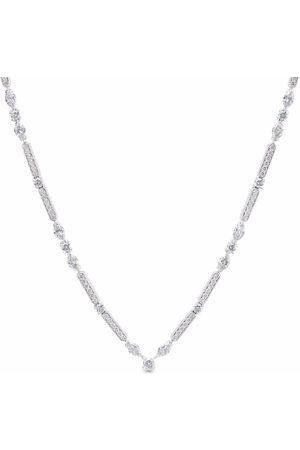 De Beers 18kt white gold Snow Dance diamond long necklace