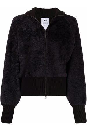 Y-3 Women Bomber Jackets - Faux-fur zip-up bomber jacket