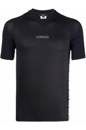VERSACE Greca-detail logo-print T-shirt