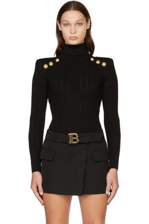 Balmain Logo Belted Miniskirt