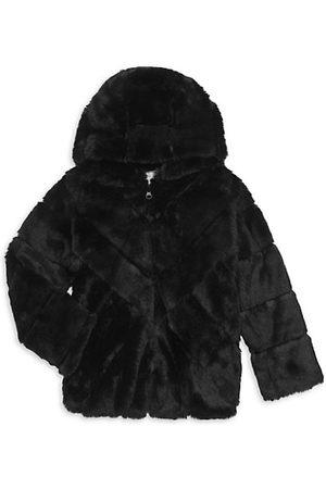Widgeon Little Girl's & Girl's Faux Fur Bomber Jacket