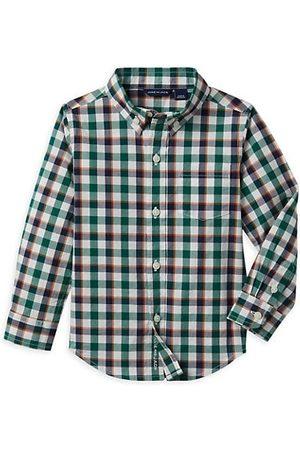 Janie and Jack Boys Shirts - Little Boy's & Boy's Plaid Poplin Button-Up Shirt