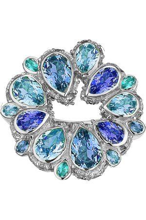Anabela Chan Women Rings - Women's Panettone 18K White Gold Sapphire; Diamond Ring