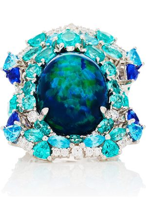 Anabela Chan Women Rings - Women's Ocean 18K White Gold Multi-Stone Ring