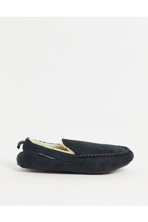 French Connection Mocasin slipper in charcoal
