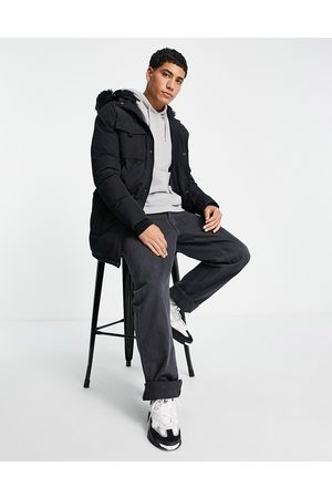 Good For Nothing Parka jacket in with fur hood