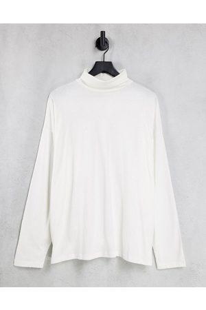 ASOS Men Long Sleeve - Long sleeve oversized roll neck t-shirt in