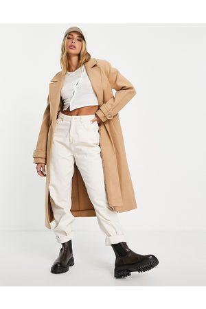 River Island Longline duster coat in camel