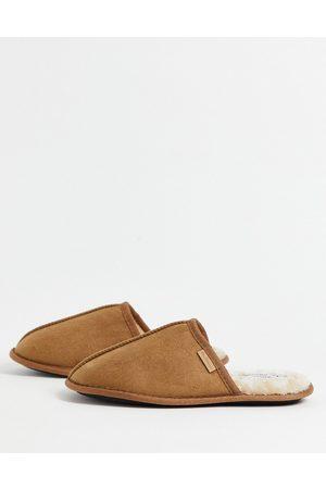 Ben Sherman Mule slippers in tan