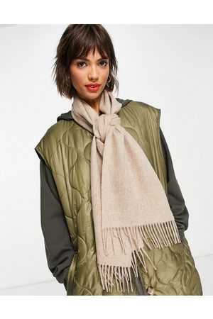 Barbour Lambswool woven scarf in oateal