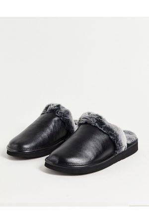 WALK LONDON Men Slippers - Leyton sheepskin slippers in grey