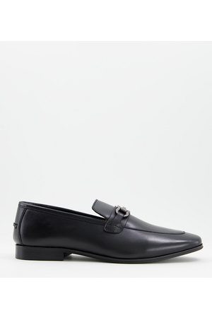 Dune Preston wide fit loafers in leather