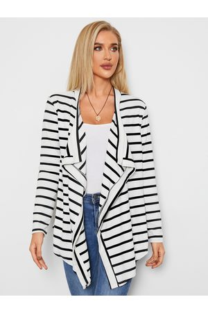 YOINS Stripe Long Sleeves Cardigan