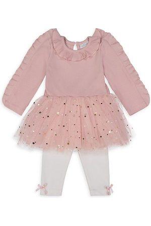 Miniclasix Baby Girl's 2-Piece Tutu Top & Leggings Set