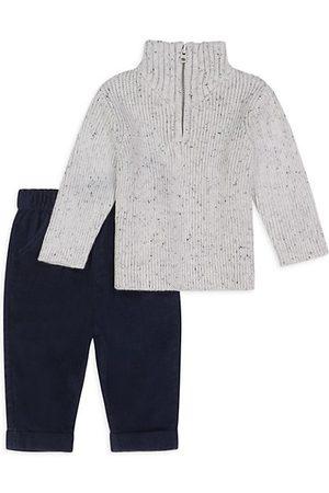 Miniclasix Baby Boy's Half-Zip Sweater & Pants Set