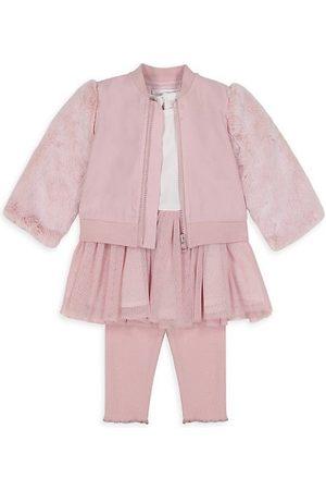 Miniclasix Baby Girl's 3-Piece Jacket, Tutu Top & Leggings Set