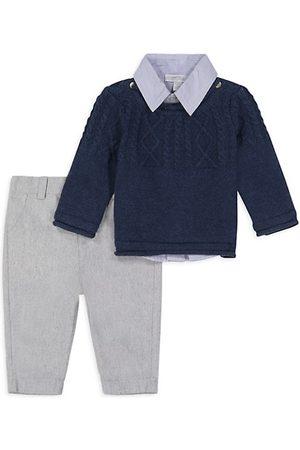 Miniclasix Baby Boy's 3-Piece Sweater, Shirt & Pants Set