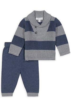 Miniclasix Baby Boy's 2-Piece Striped Sweater & Knit Joggers Set