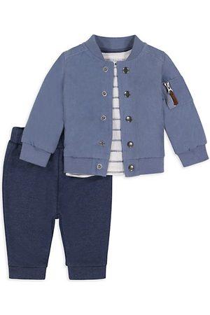 Miniclasix Baby Boy's 3-Piece Bomber Jacket, T-Shirt & Joggers Set