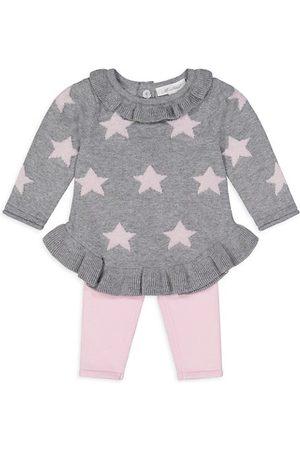 Miniclasix Baby Girl's 2-Piece Intarsia Sweater & Leggings Set