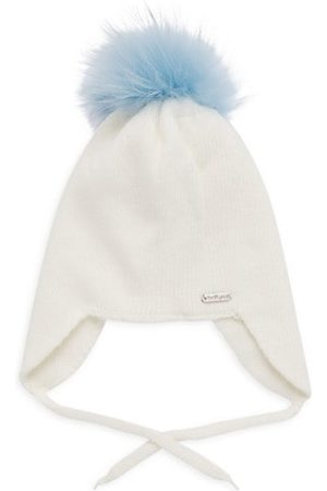 Bari Lynn Baby's Pom-Pom Fur-Trim Knit Hat