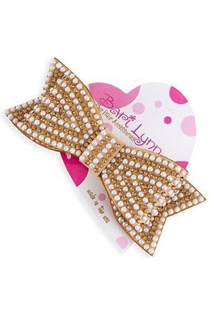 Bari Lynn Girl's Goldtone Pearl Jewel Bow