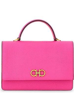 Salvatore Ferragamo Mini Gancini Leather Top Handle Bag