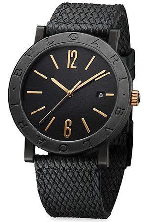Bvlgari Watches - Solotempo Black Ceramic Watch