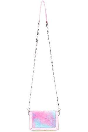 Bari Lynn Girl's Furry Tie-Dye Crossbody Bag