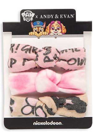 Andy & Evan Girl's 3-Piece Paw Patrol Headband Set