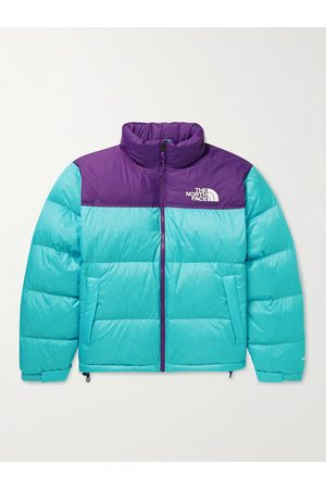 The North Face Men Outdoor Jackets - 1996 Retro Nuptse Quilted Two-Tone Ripstop and Shell Down Jacket