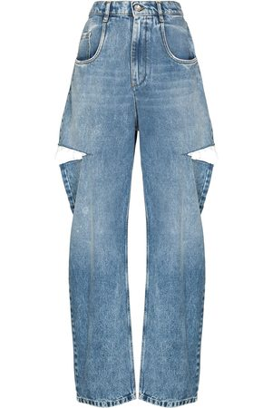 Maison Margiela Women Straight - Distressed straight-leg jeans