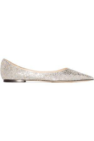 Jimmy Choo Women Ballerinas - Love glitter-embellished ballerina shoes