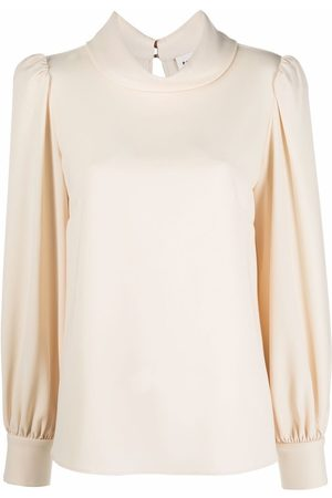 P.a.r.o.s.h. Women Blouses - Mock-neck long-sleeve blouse