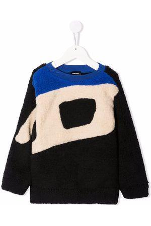 Diesel Logo-knit fleece sweatshirt