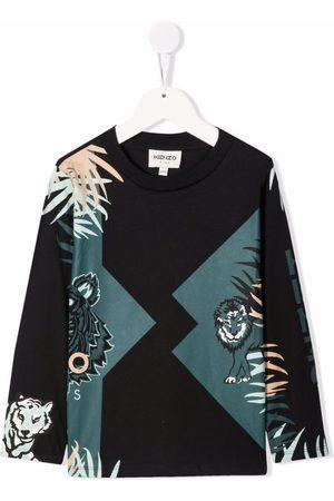 Kenzo Tiger-print longsleeved top