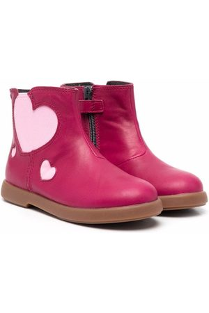 Camper Girls Ankle Boots - Duet heart-motif ankle boots