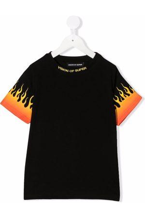 Vision Of Super Boys Short Sleeve - Logo crew-neck T-shirt